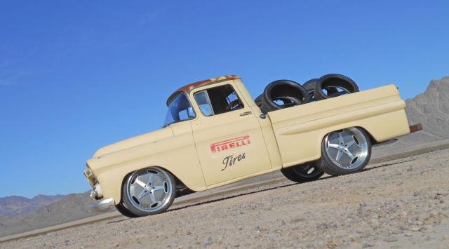 1959 Chevy Apache Pirelli Tires Vintage Delivery Shop