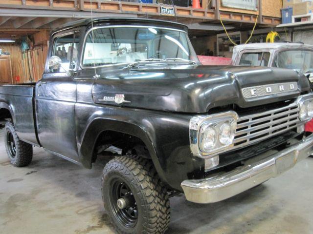 Half Ton Truck >> 1959 FORD F100 4X4 ORIGINAL