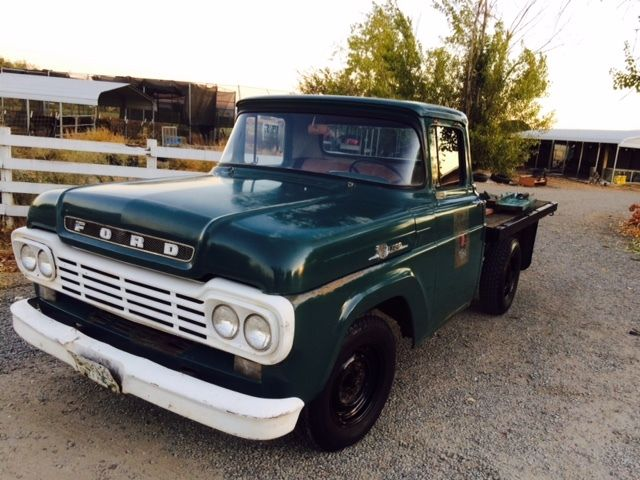 1959 Ford Truck Flatbed Original Clean F250 1957 1958 1960
