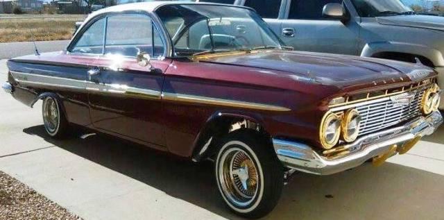 1961 chevrolet impala lowrider daytons 383 sbc 400. Black Bedroom Furniture Sets. Home Design Ideas
