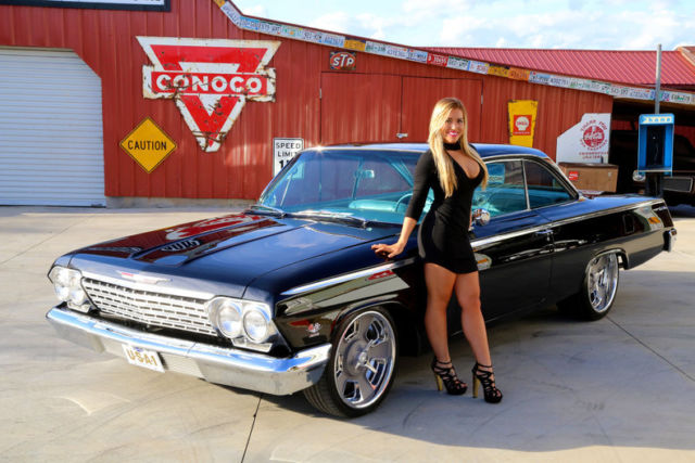 1962 chevy bel air real bubble top dual quad 409 four speed ac ps 4wpdb. Black Bedroom Furniture Sets. Home Design Ideas