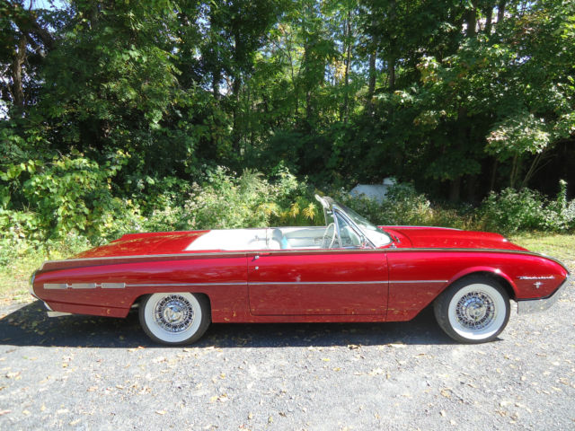 1962 ford thunderbird roadster convertible rare ford motor