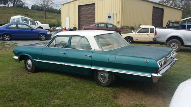 1963 chevrolet impala 4 door runs good drive anywhere new brakes cylinders. Black Bedroom Furniture Sets. Home Design Ideas