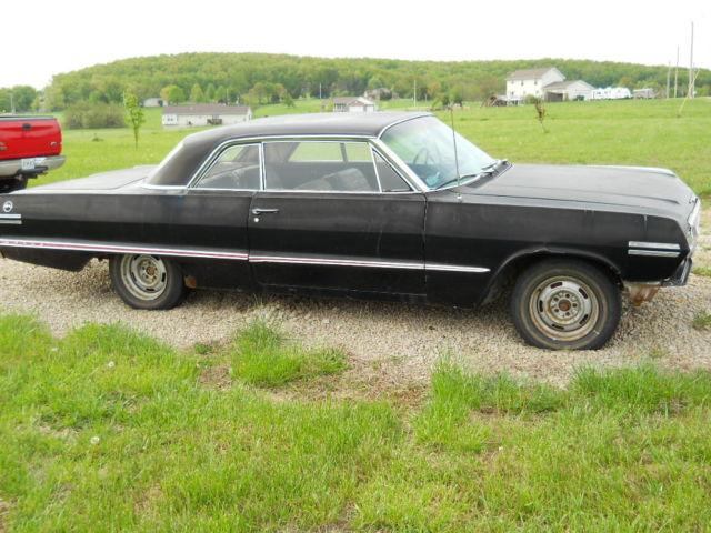 1963 chevy impala 2 door hardtop project car. Black Bedroom Furniture Sets. Home Design Ideas