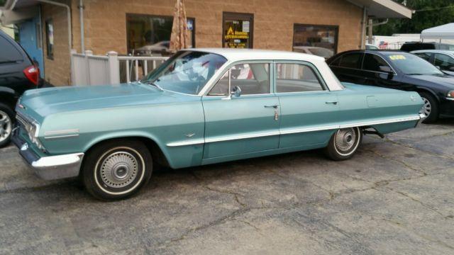 1963 chevy impala 4 door sedan survivor. Black Bedroom Furniture Sets. Home Design Ideas