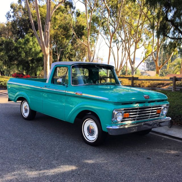 1963 ford f100 unibody short bed custom cab. Black Bedroom Furniture Sets. Home Design Ideas