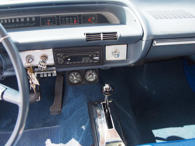 1964 Chevrolet Impala Sport Coupe Electric Blue Restored Classic Car