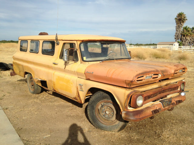 Used Chevy Trucks >> 1964 chevy truck carryall panel van