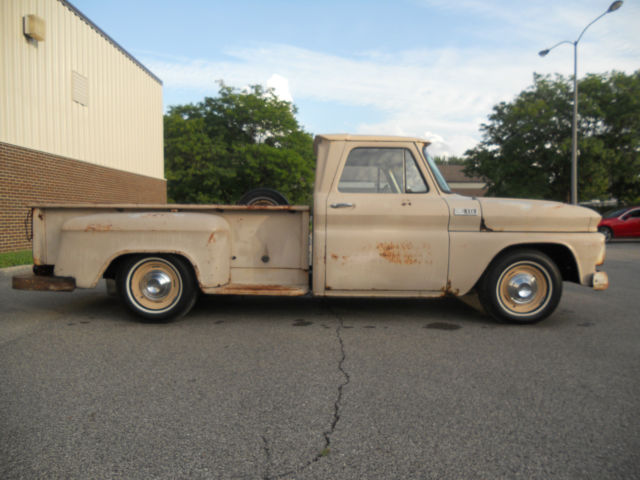 Kzuosfw L Sl Ac Ss together with Fuel Filler Hose And Neck additionally Chevrolet C Longbed Step Side Westcoast Truck Patina Three Speed Sbc besides Chevy C Shop Truck Perfect Patina Ls Swap Air Ride Lk likewise Wiring Wipers. on 1965 chevy c10 fuel tank