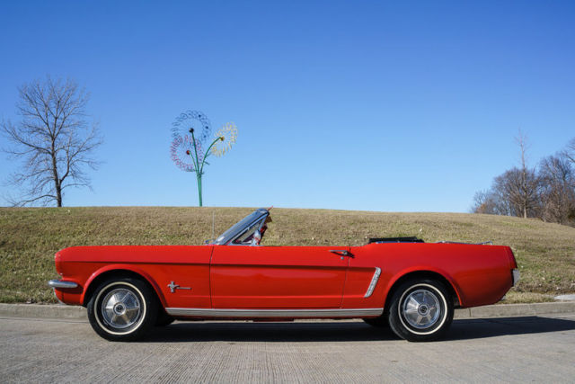 1965 ford mustang convertible correct red red car inline 6 cylinder. Black Bedroom Furniture Sets. Home Design Ideas