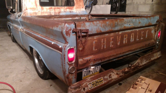 1966 CHEVY C10 SHOP TRUCK PERFECT PATINA LS SWAP AIR RIDE ...