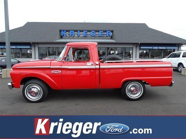 1966 Ford F100 Custom Cab 17326 Miles Red Custom Cab 390