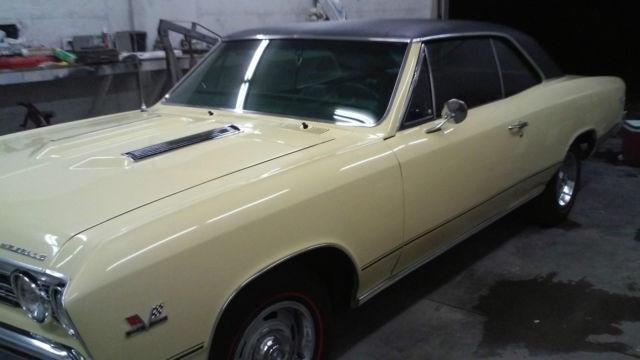 1967 Chevelle Ss 396 True 138 Car Butternut Yellow Black