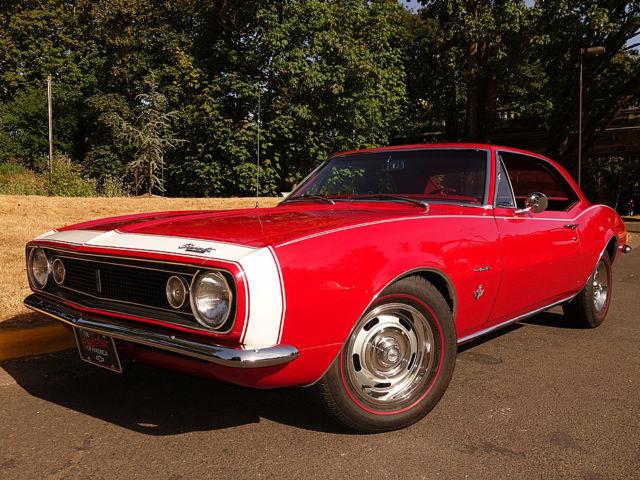 1967 Chevrolet Camaro Bolero Red W Red Interior 327 V8 Auto Ps Pdb A C W Docs