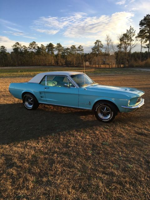 1967 Ford Mustang Coupe - Original Frosty Blue with White