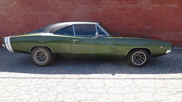 1968 Dodge Charger R/T Original CA Car Black Plates Original
