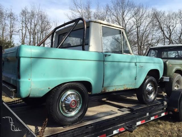 1968 FORD BRONCO U14 HALF CAB ORIGINAL UNCUT FENDERS PROJECT FROM COLORADO