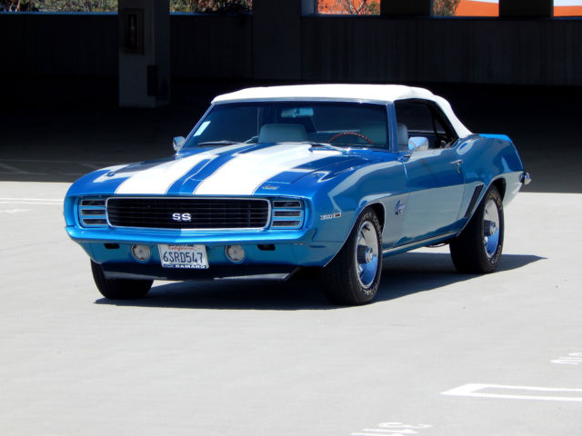 1969 chevrolet camaro ss rs 4 speed convertible highly optioned restored. Black Bedroom Furniture Sets. Home Design Ideas