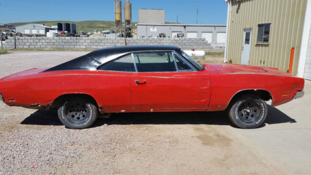 1969 Dodge Charger Project Car With Original Orange Paint