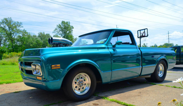 Trucks With Blowers : Gmc short bed pro street blower truck pickup hot rod