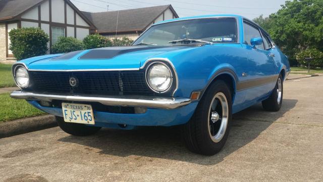 """1970 70 Ford Maverick Grabber Blue V8 289 4 speed 8"""" 3:55 ..."""