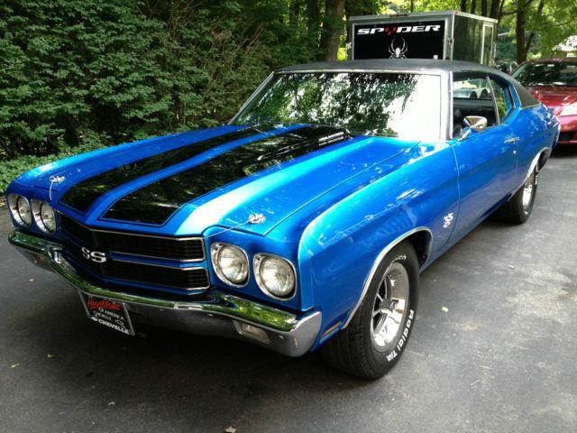 1970 Ss454 Chevelle Clone Fathom Blue Turbo 350 Black