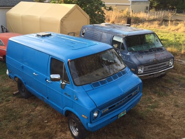 1971 Dodge B100 Tradesman 100 Shorty V8 Stick Shift On Floor RARE Street Van 318