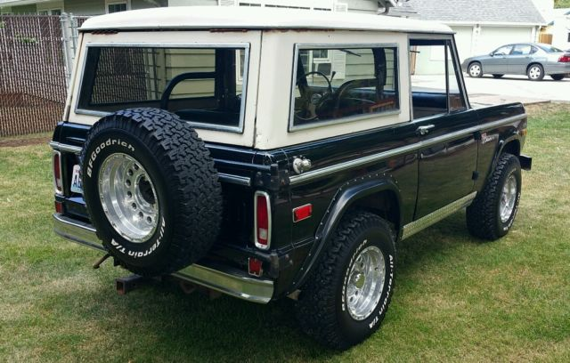1971 Early Ford Bronco with Original BLACK paint, White ...