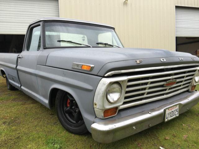 1971 ford f100 pickup  air bagged custom truck  crown vic