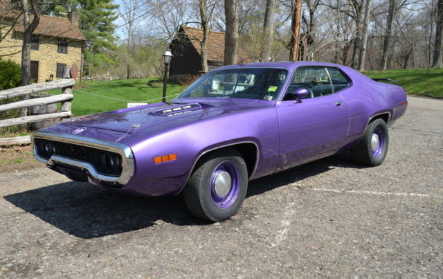 1971 Plymouth Road Runner 383 4 Speed In Violet Vintage Classic