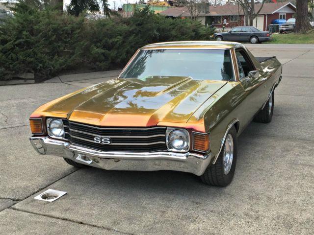 1972 chevrolet el camino custom chevy gm 72 elko chameleon