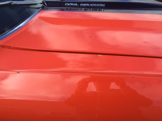 1972 El Camino Orange With Black Stripe Cowl Induction Hood