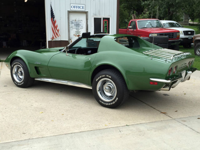 1973 Corvette Stingray Elkhart Green Metallic 350ci V8
