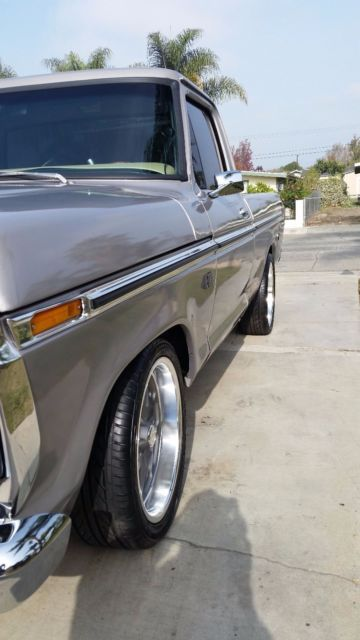 1975 Ford F100 Custom Short Bed Efi Fuel Injected 302