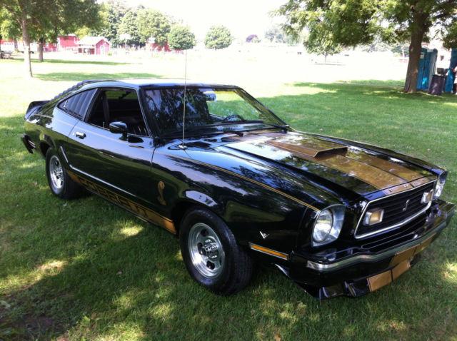 1976 Ford Mustang 2 Cobra Black Gold Stripes