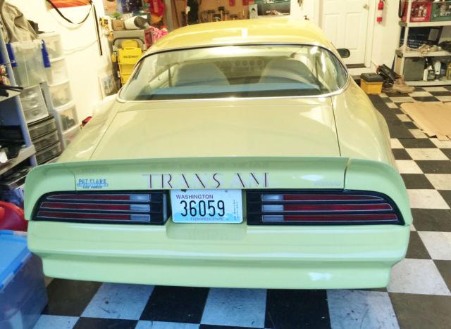 1977 Pontiac Firebird Trans Am Coupe 2 Door 6 6l