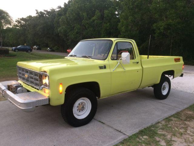 1978 Chevy 4x4 3 4 Ton 8900 Original Miles