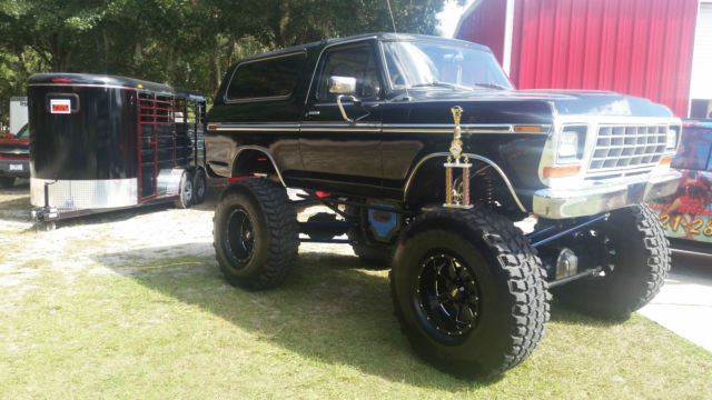 1979 Custom Lifted Black Ford Bronco