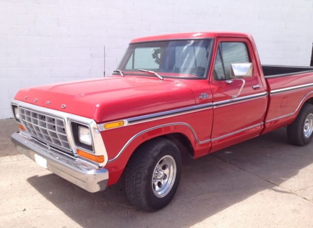 1979 Ford F 150 Ranger Lariat Long Bed Red