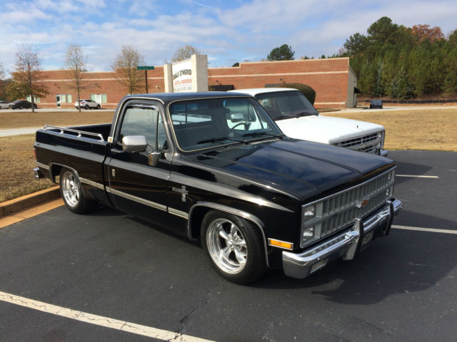 1982 Chevy Silverado Swb Black 5 0 700r4 Classic Low Mile Truck