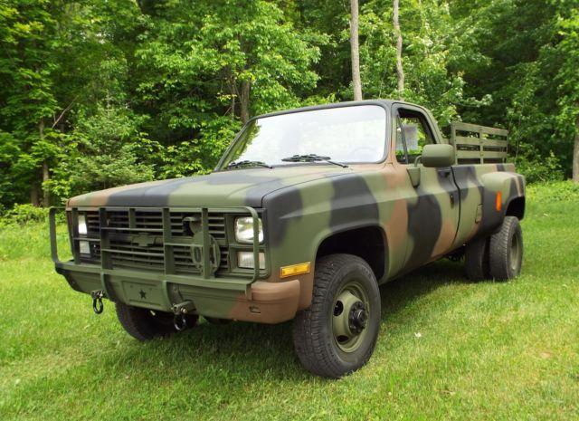 1986 CHEVROLET M1028A2, Military 4x4 Diesel 5/4 ton pickup