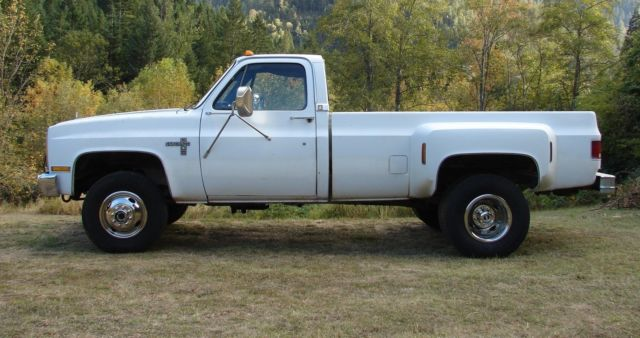 1986 chevy k30 4x4 1 ton pickup truck dually diesel gmc 3500. Black Bedroom Furniture Sets. Home Design Ideas