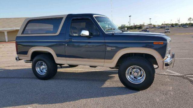 1986 Ford Bronco Eddie Bauer Sport Utility 2-Door 5.0L