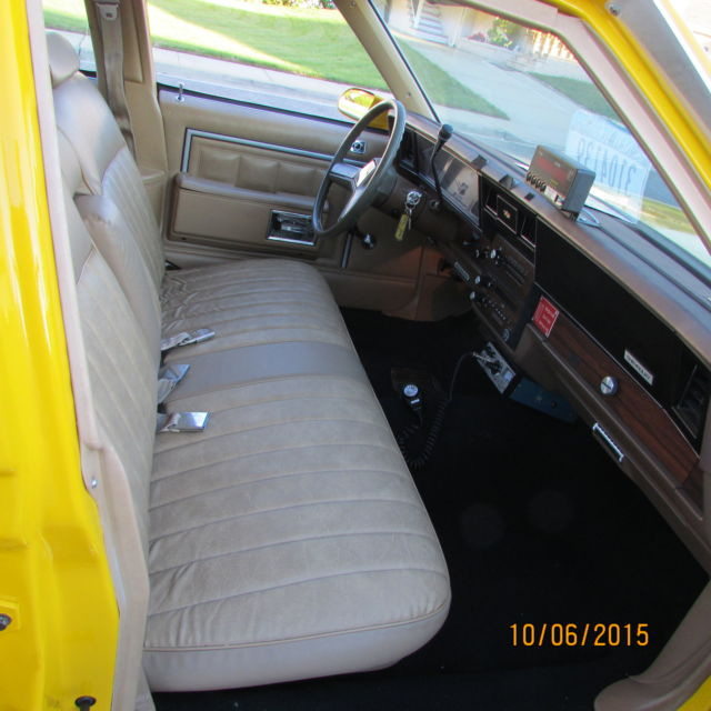 1987 Chevrolet Caprice Restored To Replicate Nyc Taxi