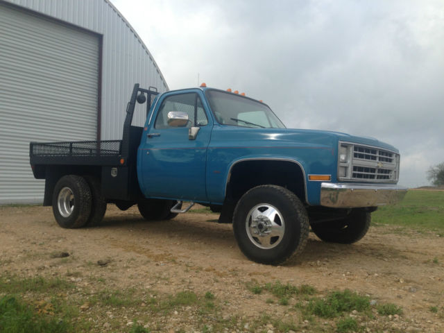 Chevy 3500 Dually Flatbed >> 1987 chevrolet K 3500 4x4 454ci granny 4 speed dually flatbed truck all original