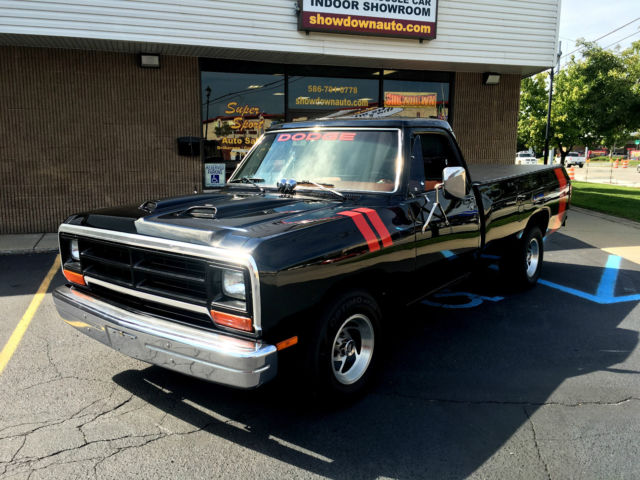 1987 dodge d100 pickup built 360ci v8 w cam headers msd posi built to drive. Black Bedroom Furniture Sets. Home Design Ideas