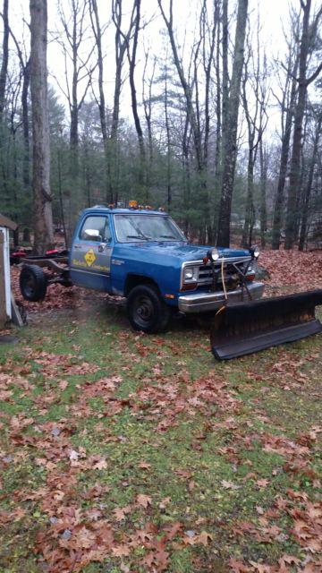 1987 Dodge D250 Plow Truck