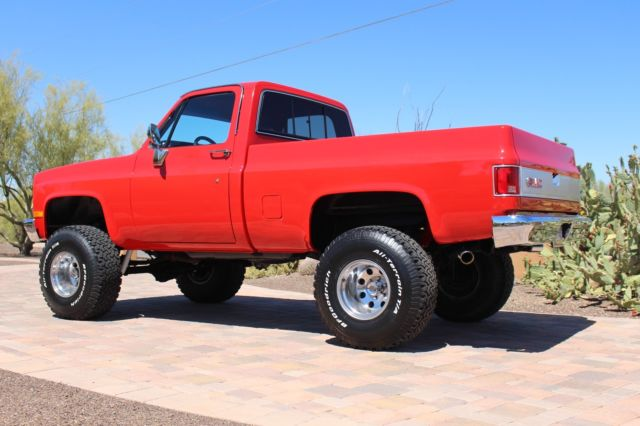 1987 GMC short bed truck k15 4x4 twin to a chevy k 10 6 inch lift new paint
