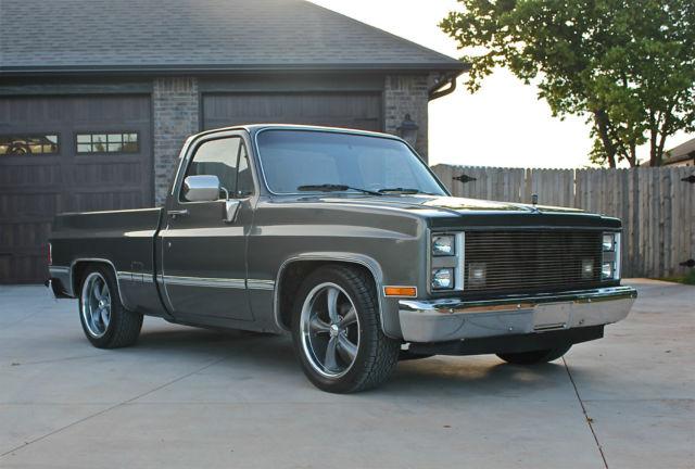 1987 gmc short wide bed pickup same as chevrolet. Black Bedroom Furniture Sets. Home Design Ideas