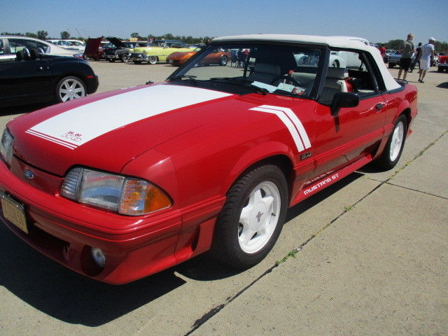 1990 Mustang Gt Convertible Red White Interior Low Miles All Original